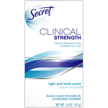 Secret Light And Fresh Scent Advanced Solid Antiperspirant/Deodorant