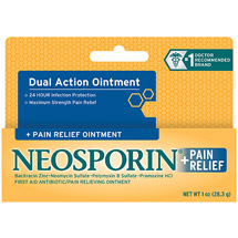Neosporin Plus Pain Relief Antibiotic/Pain Relieving Ointment Maximum Strength