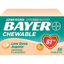 Bayer Chewable Orange Flavored Low Dose Aspirin (Pack of 3)