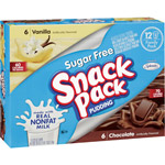 Snack Pack Sugar Free Vanilla & Chocolate Pudding
