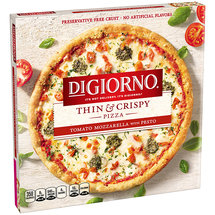 DiGiorno Thin & Crispy Tomato Mozzarella with Pesto Pizza