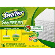 Swiffer Sweeper Gain Original Scent Dry Sweeping Cloths Refills