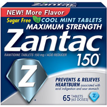Zantac 150 Cool Mint Maximum Strength Tablets