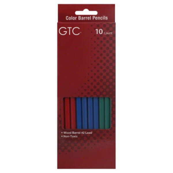 GTC Wood Color Barrel Pencils