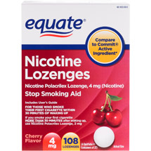 Equate Stop Smoking Aid Nicotine Lozenge 4mg Cherry