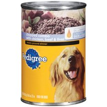 Pedigree Chopped Combo W/ Chicken Beef & Liver Meaty Ground Dinner