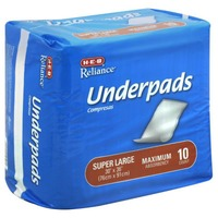H-E-B Reliance Super Large Maximum Absorbency Underpads