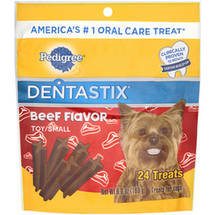 Pedigree Dentastix Daily Oral Care Treats for Toy/Mini Dogs Beef Flavor