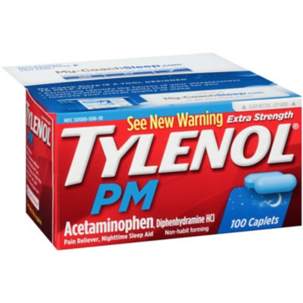 Tylenol® PM Extra Strength Pain Reliever, Nighttime Sleep Aid