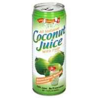 Amy & Brian Juice, Coconut with Pulp, Can