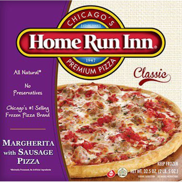 Home Run Inn Margherita With Sausage Pizza