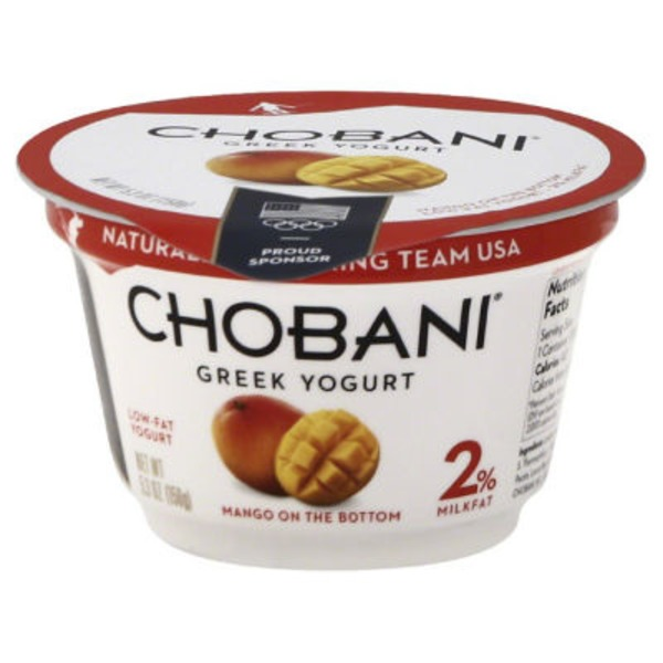 Chobani Mango on the Bottom Low-Fat Greek Yogurt