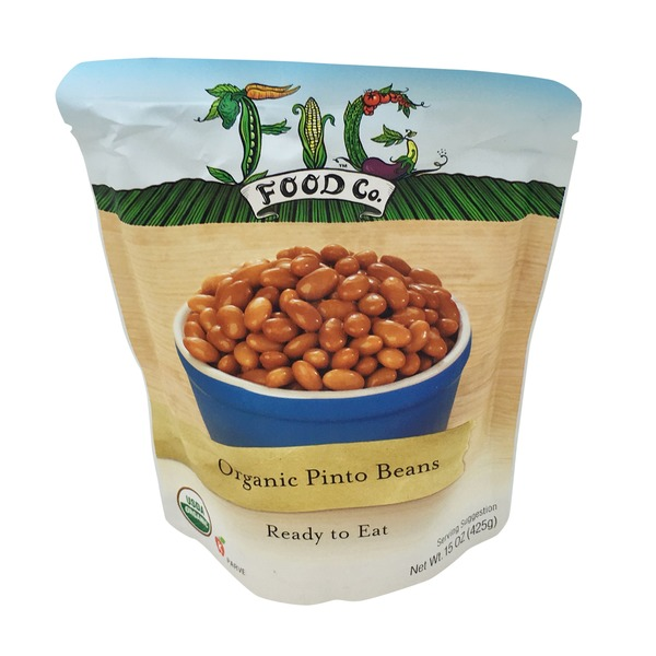 Fig Food Co. Organic Pinto Beans Ready To Eat In Pouch