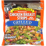 John Soules Foods Restaurant Quality w/Rib Meat Grilled Chicken Breast Strips