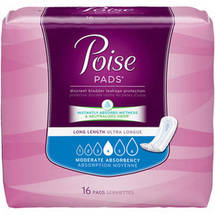 Poise Incontinence Absorbent Product Extra Coverage Pads