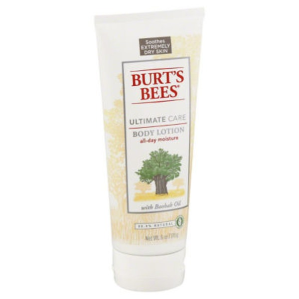 Burt's Bees Ultimate Care Body Lotion With Baobab Oil Very Dry Skin