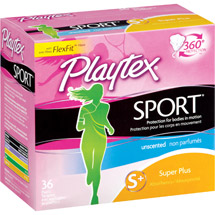 Playtex Femcare Sport Unscented Super Plus Tampons