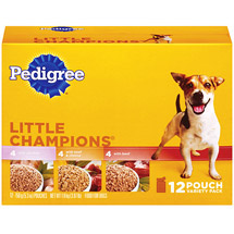 Pedigree Little Champions Beef Chicken Beef & Cheese Variety