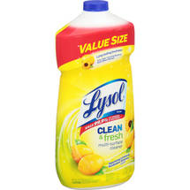 Lysol Clean & Fresh Multi-Surface Cleaner Pourable Liquid Lemon Sunflower