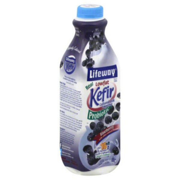 Lifeway Lowfat Probiotic Blueberry Kefir Cultured Milk Smoothie