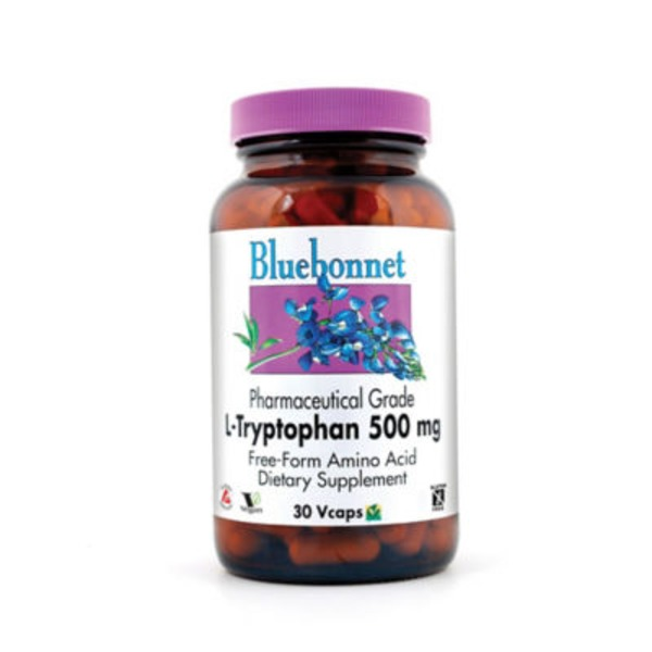 Bluebonnet Nutrition L-Tryptophan 500 Mg Vcaps