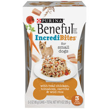 Purina Beneful Chopped Blends with Chicken Tomatoes Carrots and Wild Rice Dog Food Three 3 oz Cans