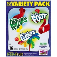 Betty Crocker Fruit Roll-Ups/Fruit Gushers/Fruit by the Foot Variety Pack Fruit Flavored Snacks
