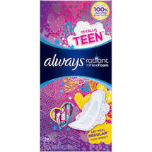 Always Radiant Teen Regular Pads with Flexi-Wings (Choose your Count)