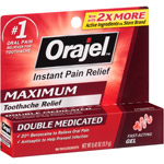 Orajel Immediate Toothache Pain Reliever Maximum Strength Gel