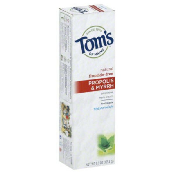 Tom's of Maine Propolis & Myrrh Natural Fluoride-Free Spearmint Toothpaste