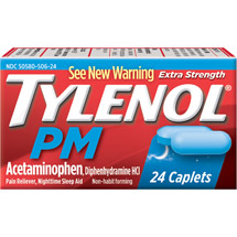 Tylenol PM Extra Strength Pain Reliever/Nighttime Sleep Aid Caplets