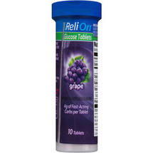 ReliOn Grape Glucose Tablets