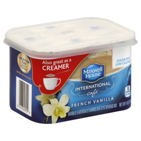 Maxwell House International Cafe Sugar Free French Vanilla Cafe Cafe-Style Beverage Mix
