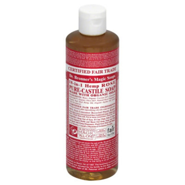 Dr. Bronner's All-One! Dr. Bronner's 18-In-1 Hemp Rose Pure-Castile Soap