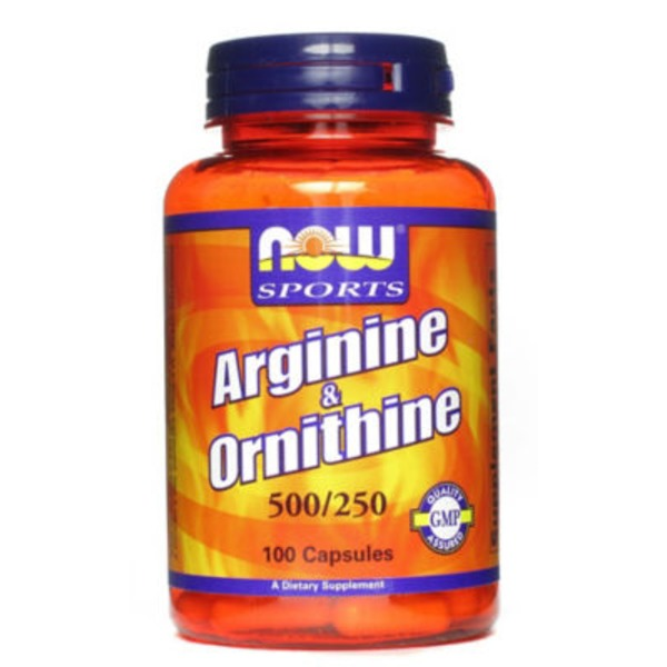 Now Sports Arginine & Ornithine 500/250 Mg Capsules