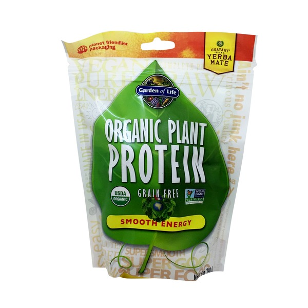 Garden of Life Organic Plant Protein Yerba Mate Smooth Energy