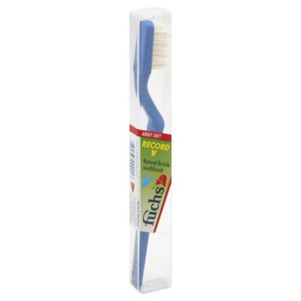 Fuchs Adult Soft Natural Bristle Toothbrush