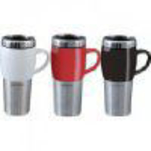Mr. Coffee Traverse Travel Mug With Lid, 16oz