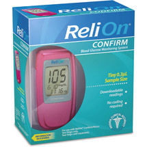 ReliOn Confirm Blood Glucose Meter Pink