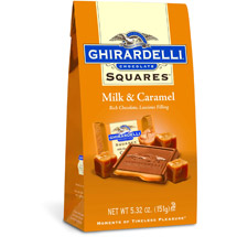 Ghirardelli Chocolate Squares Milk Chocolate with Caramel Filling Chocolate