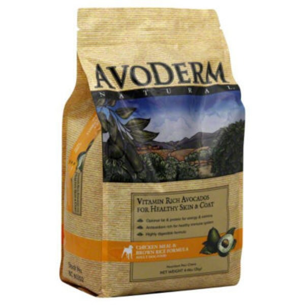 AvoDerm Dog Food, Adult, Chicken Meal & Brown Rice Formula