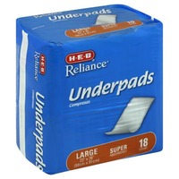 H-E-B Reliance Large Super Absorbency Underpads