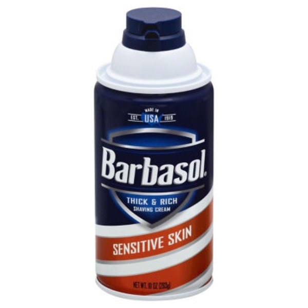 Barbasol Thick & Rich Saving Cream Sensitive Skin
