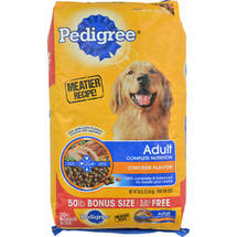 Pedigree Adult Complete Nutrition Chicken Flavor Dry Dog Food Bonus Size 50 lbs
