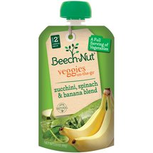 Beech-Nut Veggies On-the-Go Zucchini Spinach & Banana Blend Stage 2 Baby Food