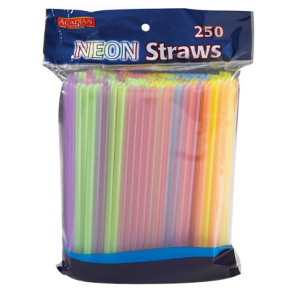 Acadian Trading Neon Straight Straws