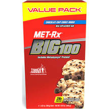 MET-Rx Big 100 Chocolate Chip Cookie Dough Meal Replacement Bars