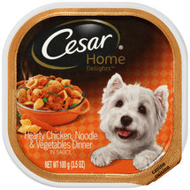 Cesar Home Delights Canine Cuisine Hearty Chicken Noodle & Vegetables Dinner in Sauce