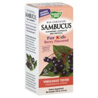 Nature's Way Original Sambucus For Kids Bio-Certified Elderberry Natural Syrup