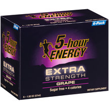 5-hour ENERGY Extra Strength Grape Dietary Supplement